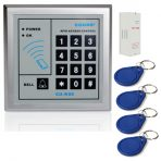RFID 125KHz Access Control Keypad Smart Card Reader Door Lock System With TK4100